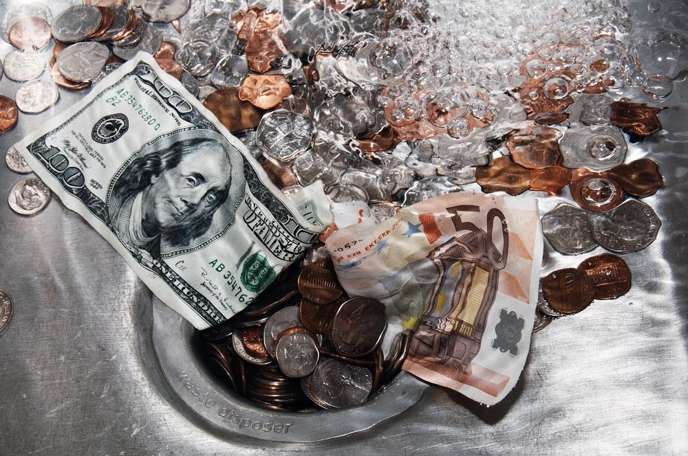 waisting money As long as a majority was prepared, it was wasting money to conciliate any body else of course, every effort should be made to keep the ice from wasting.