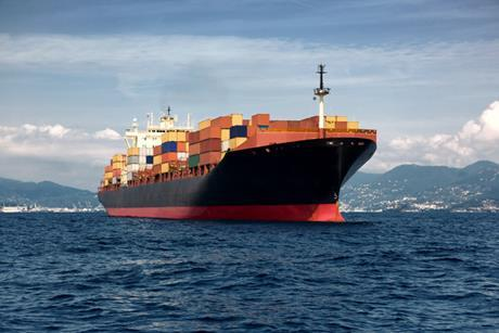 I stock container ship